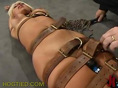 This busty babe likes being whipped!