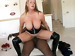 Hot whore Zoey Andrews getting so screwed with a blackzilla on her juicy snatch
