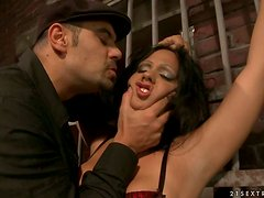 Hot Busty Brunette Gets Her Big Boobs Tortured and Gets Fucked in BDSM