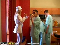 Kinky medical college students in a group sex party