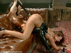 Girls in bondages have a hot anal fuck