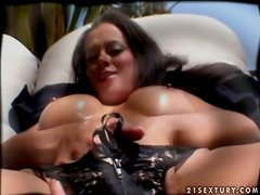 Big Breasted Brunette Slut Olivia Del Rio Fucked by Big Black Penis