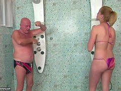 Creepy Old Fuck Banging A Blonde Hottie