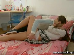 Sexy school chick Amanda gets fucked hard