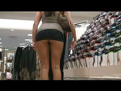Naughty Ella likes to masturbates in supermarket