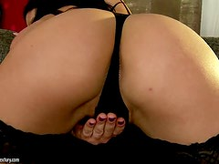 Fishnet Wearing Hottie Is Lambasted By Her Two Buddies