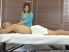 Birthday Guy Gets An Oil Massage & A Handjob