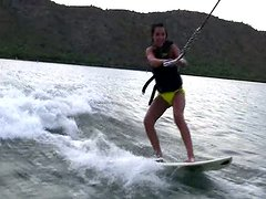 Watersurfing is not only fun it's also hot and sexy