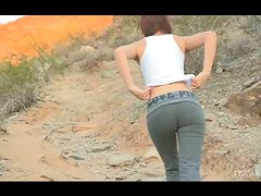 Naked hiking with horny teen babe Alaura
