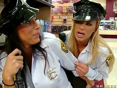 Lezley Zen And Shyla Stylez Are Two Horny Security Sluts That Fuck Thieves