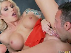 Horny Well Hung Keiran Lee Goes Crazy For A Big Pair Of Tits
