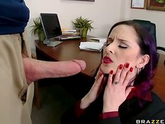 Sexy MILF Caroline Pierce Gets Naughty At The Office