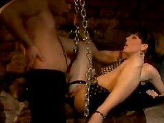 Brunette Tina Gabriel Deepthroats and Gets Fucked By a Big Cock In BDSM