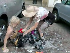 Two Mess Lovers In Sexy Catfight