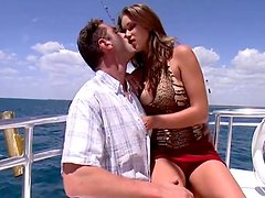 Banging Brunette Getting Bodaciously Banged On A Boat