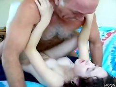 Brunette Teen Licked & Fucked By Horny Old Man