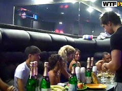Crazy College Orgy Party In Club