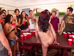 Beer Pong & Fuck Wang At College Party