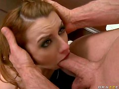 Throat and Doggystyle Fuck In The Office For Hot Redhead Lexi Belle