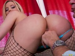 Awesome Cock Riding By Alexis Texas Big Bubble Butt In Fishnet Stockings