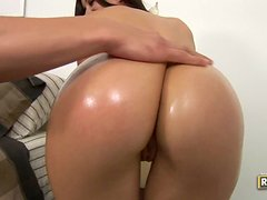 Horny Brunette With Big Bubble Butt Takes It In All Positions