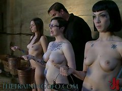 Three Crazy Young Slags In Sex Slave Training