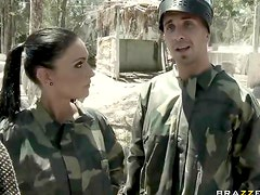 Fucking at a paintball match