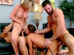 Foursome with hot cum swapping