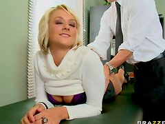 Sweater secretary fucked so hard