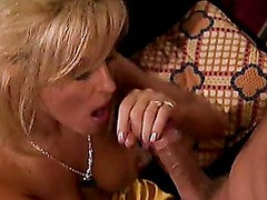 Sexy blondie Jill Kelly taked a monstrous cock in her mouth like a lollipop