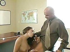 Nasty schoolgirl Kelly Kline gets her mouth hooked up on a meaty cock