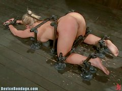 Blonde Is Tied Up & Has Her Ass Gaped By Vibrator