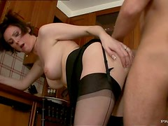 Lustful Mature Taking on a Guy Half Her Age