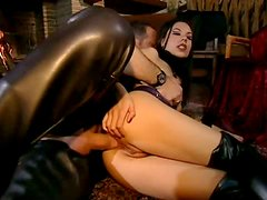 Leather Fetish Slut Vanessa May Getting Her Ass Fucked