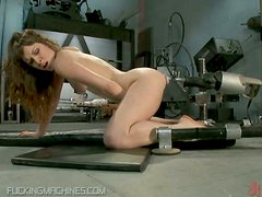 Brunette Getting Brutally Machine Fucked Up The Poop Chute