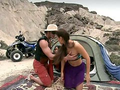 I Wanna Go Camping with Brunettes Claudia Rossi and Lady May