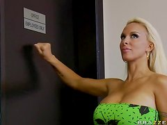 Tattooed and Busty Blonde Holly Halston Fucking The Sergeant