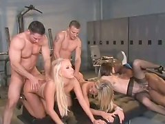 Amy Brooke  Bobbi Starr And Carla Cox In Amazing Group Sex Orgy