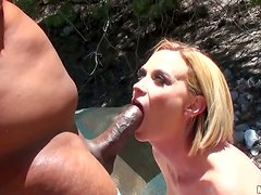 Outdoors Interracial Sex With The Squirting Slut Camryn Cross