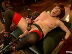 Hot chicks get toyed, pinched and clothespinned