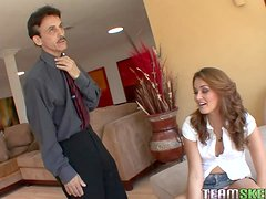Allie Haze Takes A Ride On An Old Man's Large Cock