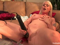 Hot Blonde's Fucked By A Machine