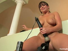Fucking Machines Fun With A Busty Brunette