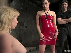 Master And Mistress Makes A Blonde's Life A Living Nightmare