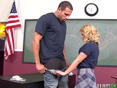 Elizabeth Bentley Rides Her Teacher's Big Black Cock