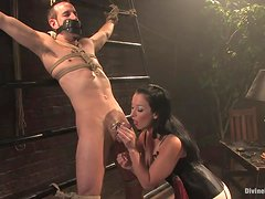 Deep Strapon Fucking For A Male Slave