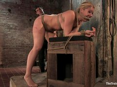 Blonde Is Tied Up And Fucked In Bondage Scene