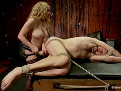 Busty Mistress Fucks Her Slave With A Strapon