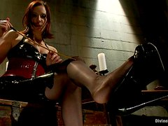Redhead Mistress Makes You Worship Her Feet