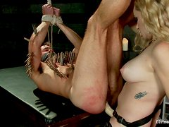 Poor Servant's Tortured And Fucked With A Strapon By Her Mistress